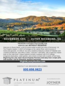 River Bends Property Upcoming Auction – Luxury Real Estate Deserves a Luxury Auction