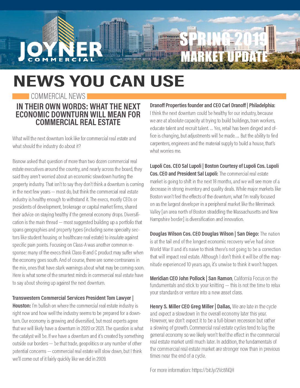 Joyner Commercial Market Update Spring 2019