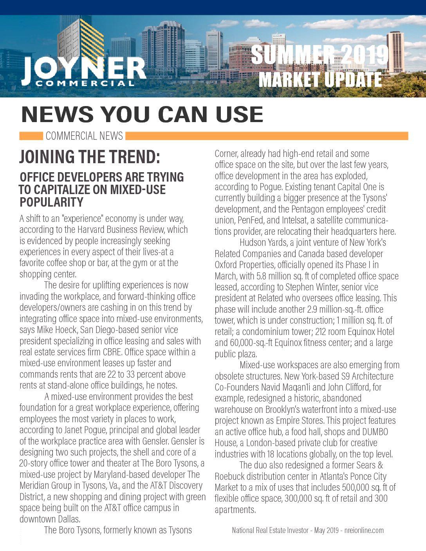 Joyner Commercial Market Update Summer 2019