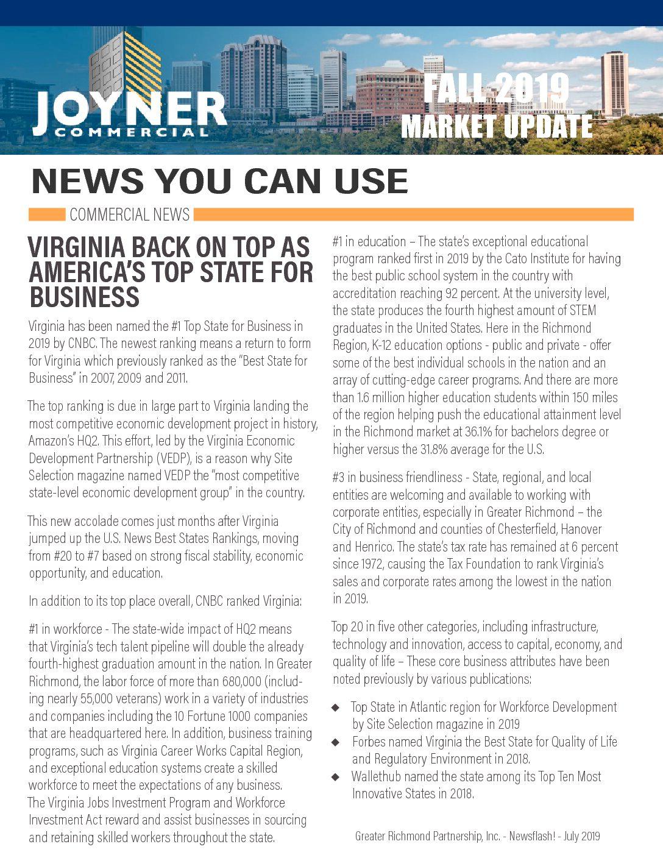 Joyner Commercial Market Update Fall 2019