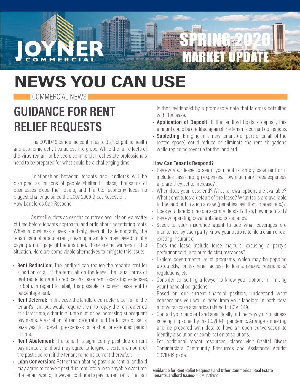 Joyner Commercial Market Update Spring 2020