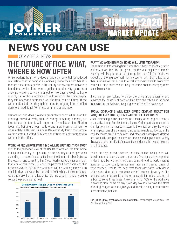 Joyner Commercial Market Update Summer 2020