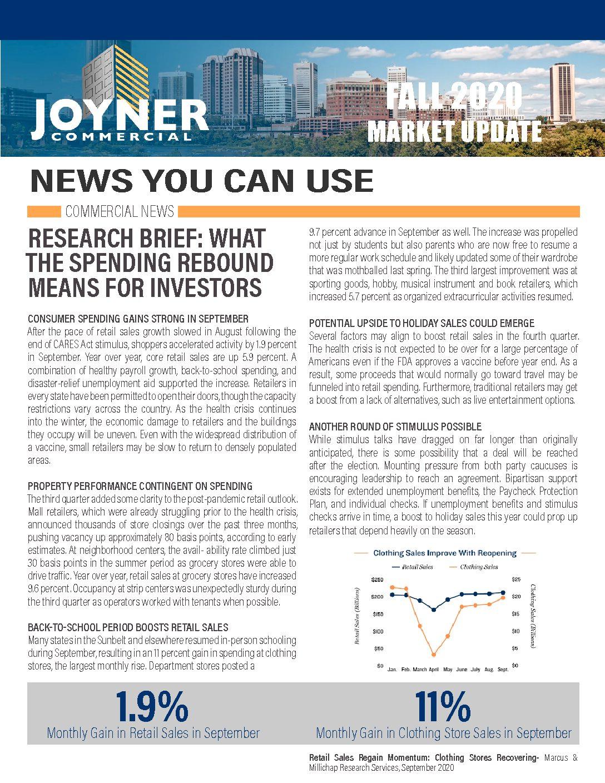 Joyner Commercial Market Update Fall 2020