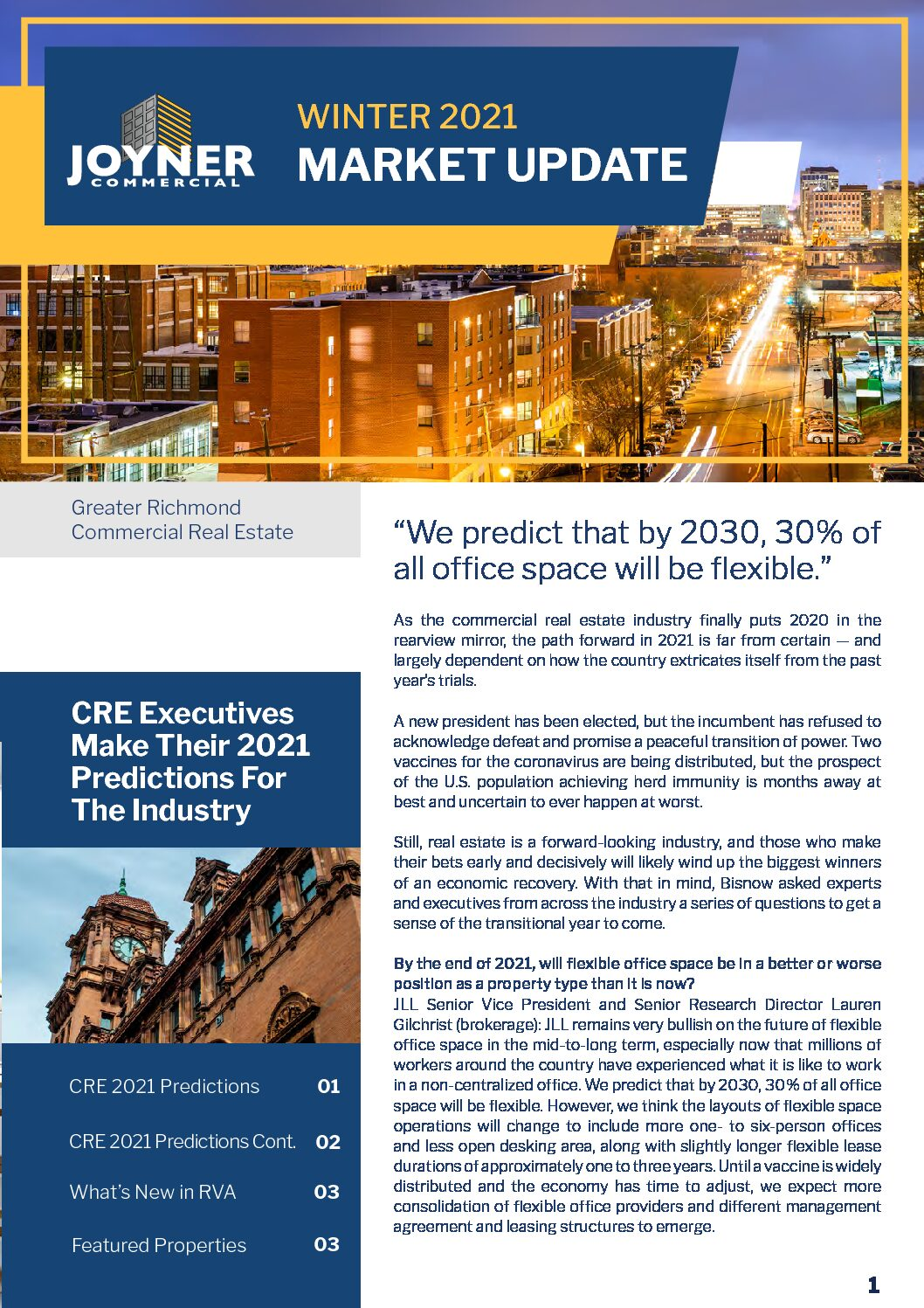 Joyner Commercial Market Update Winter 2021